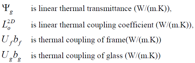 system without taking into consideration the edge influence (U g,ned 1,1 W/(m 2. K)). Similarly, also the U f value (W/(m 2. K)) is determined for frame without glazing.