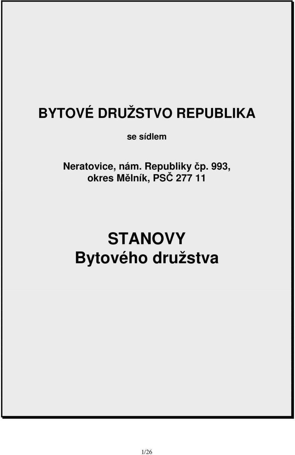 Republiky čp.