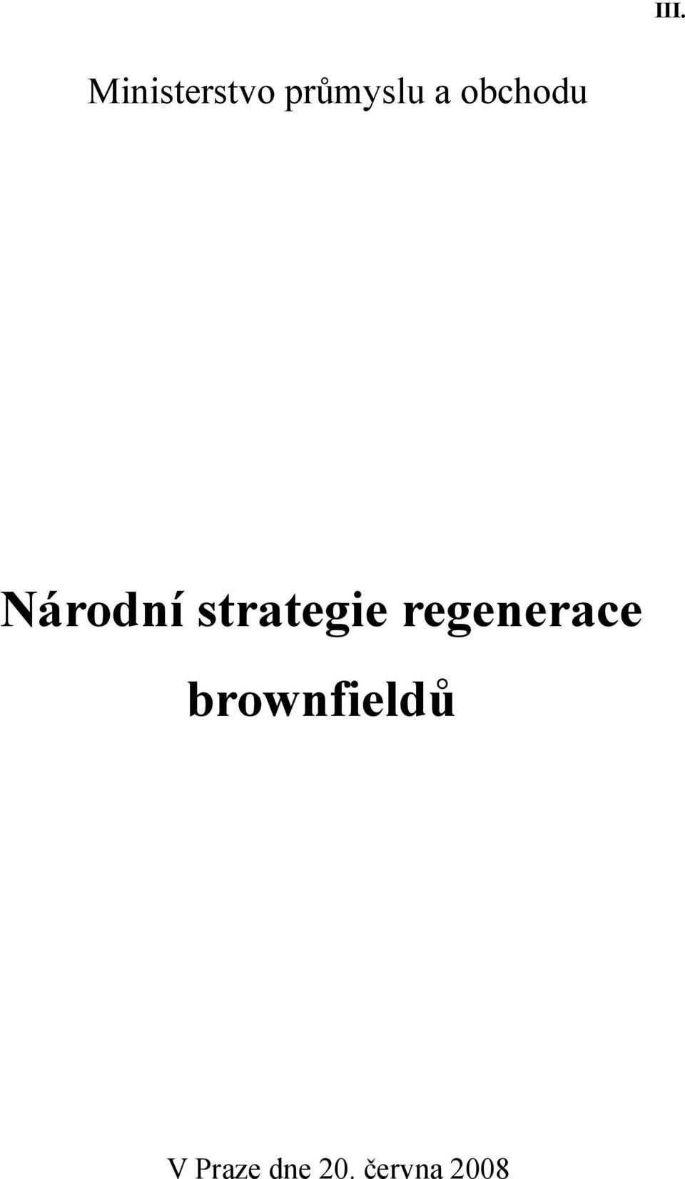 strategie regenerace
