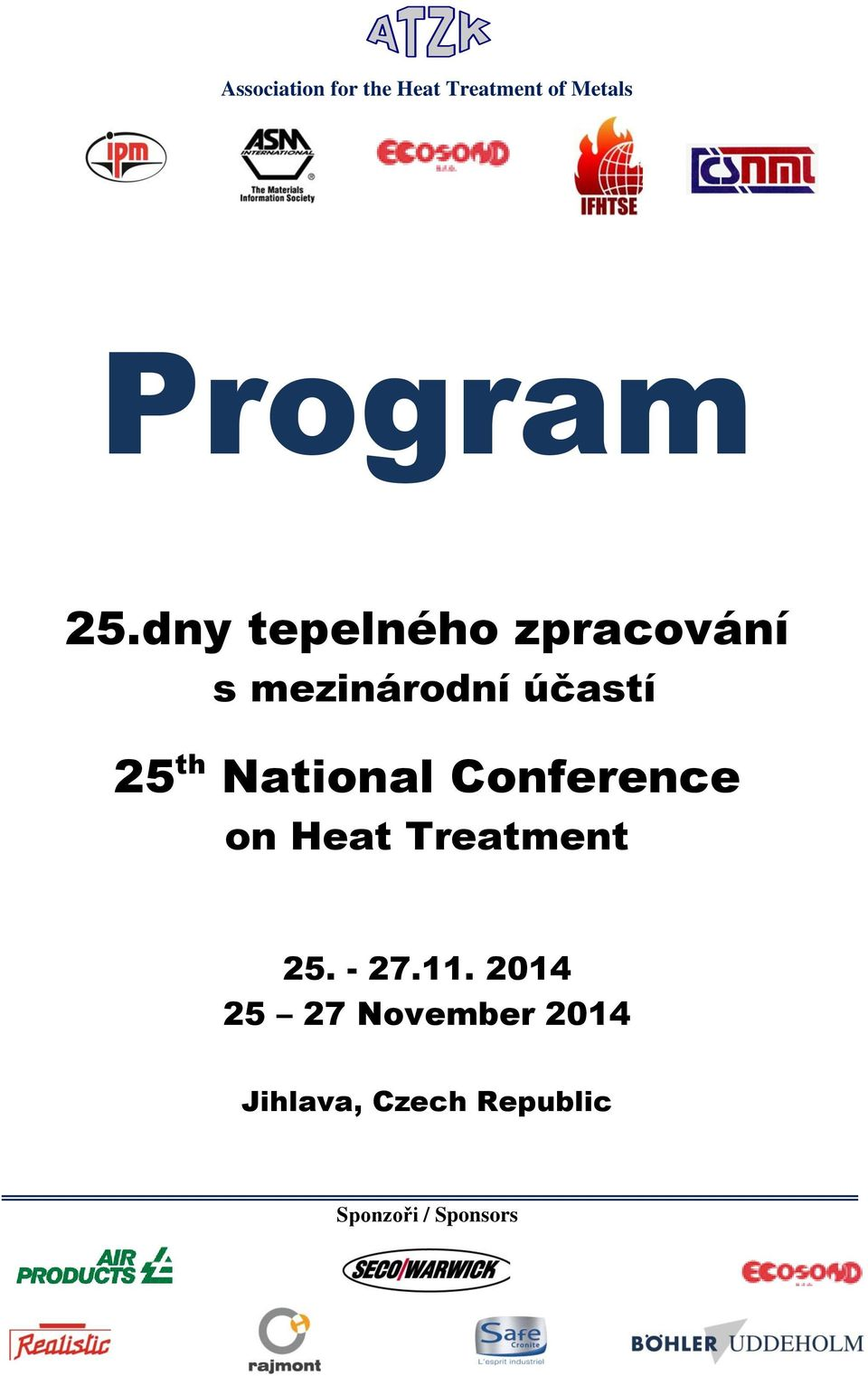 National Conference on Heat Treatment 25. - 27.11.
