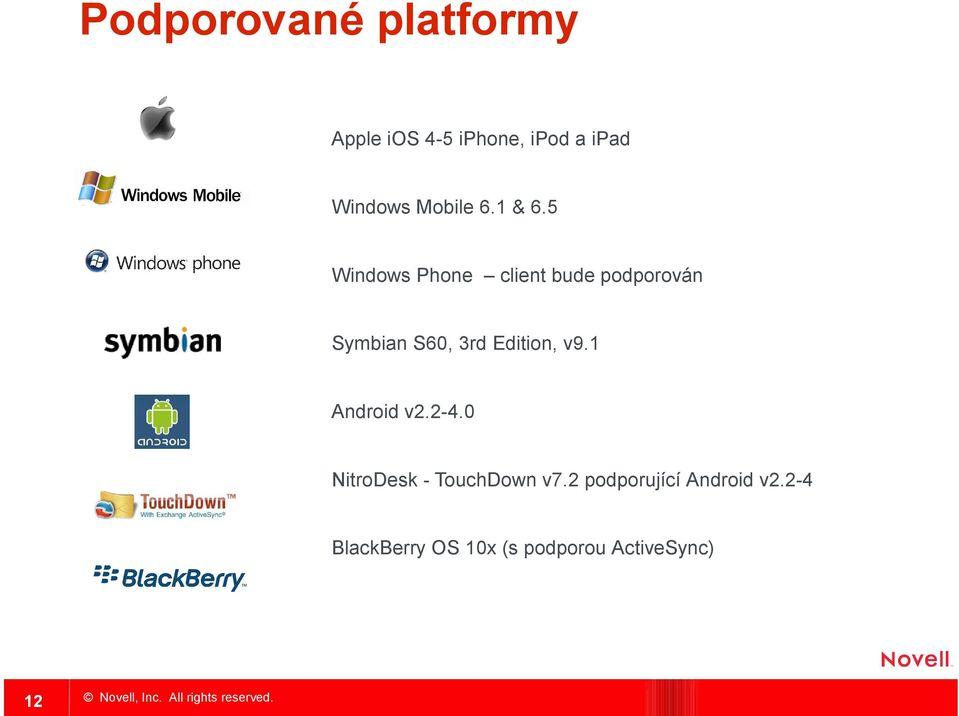 5 Windows Phone client bude podporován Symbian S60, 3rd Edition, v9.