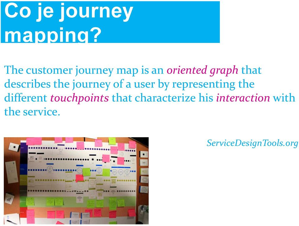 describes the journey of a user by representing the
