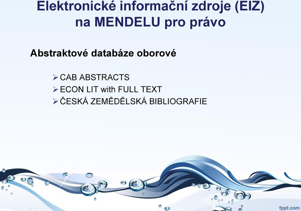 databáze oborové CAB ABSTRACTS ECON