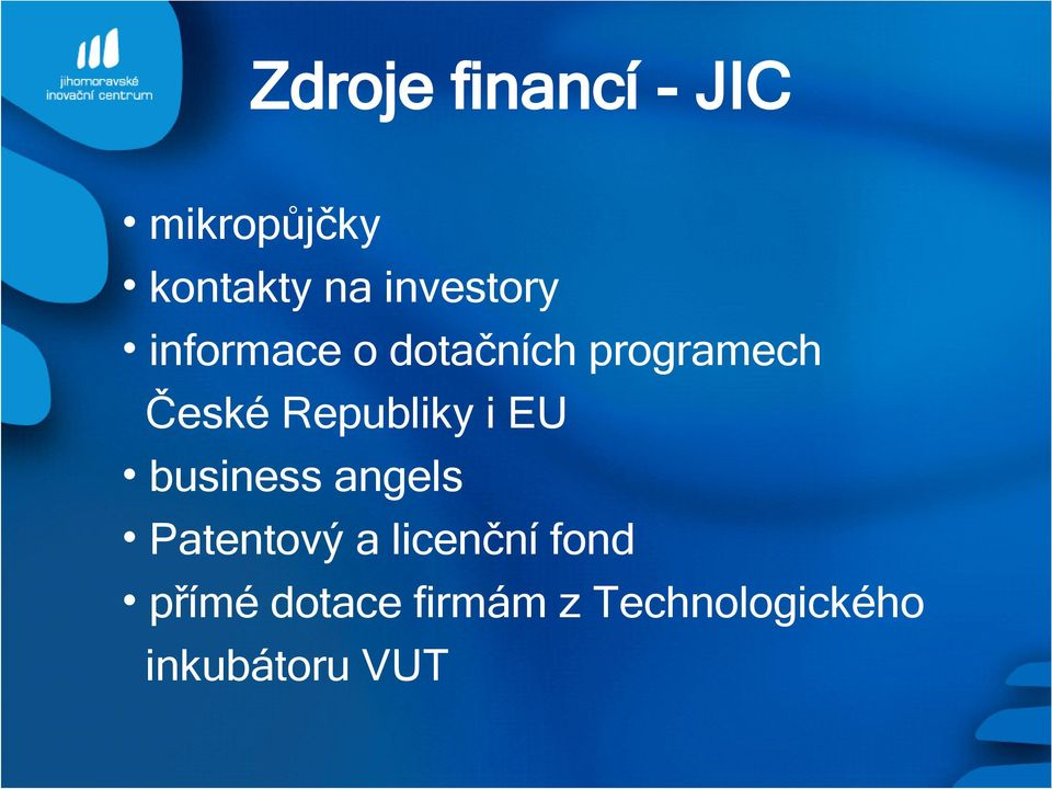 Republiky i EU business angels Patentový a