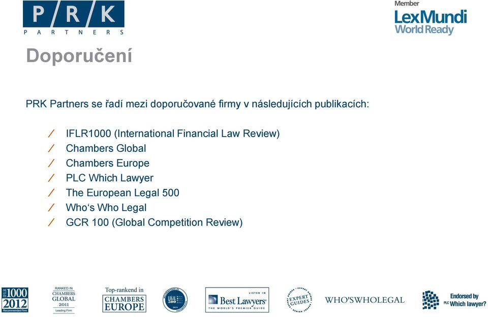 Law Review) Chambers Global Chambers Europe PLC Which Lawyer