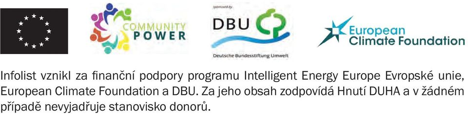 Climate Foundation a DBU.
