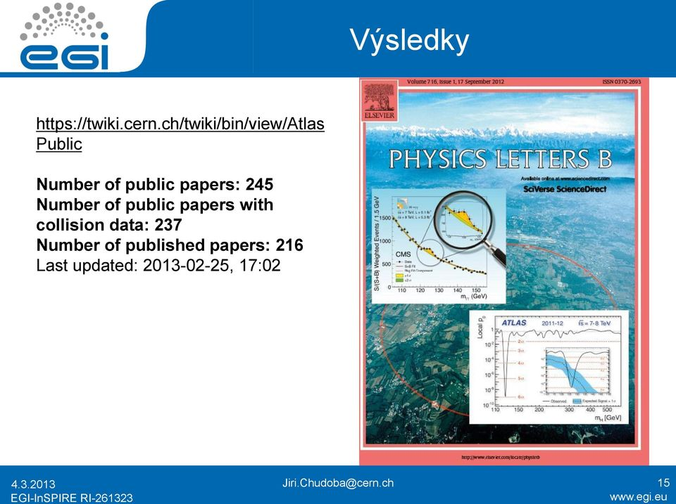 245 Number of public papers with collision data: 237