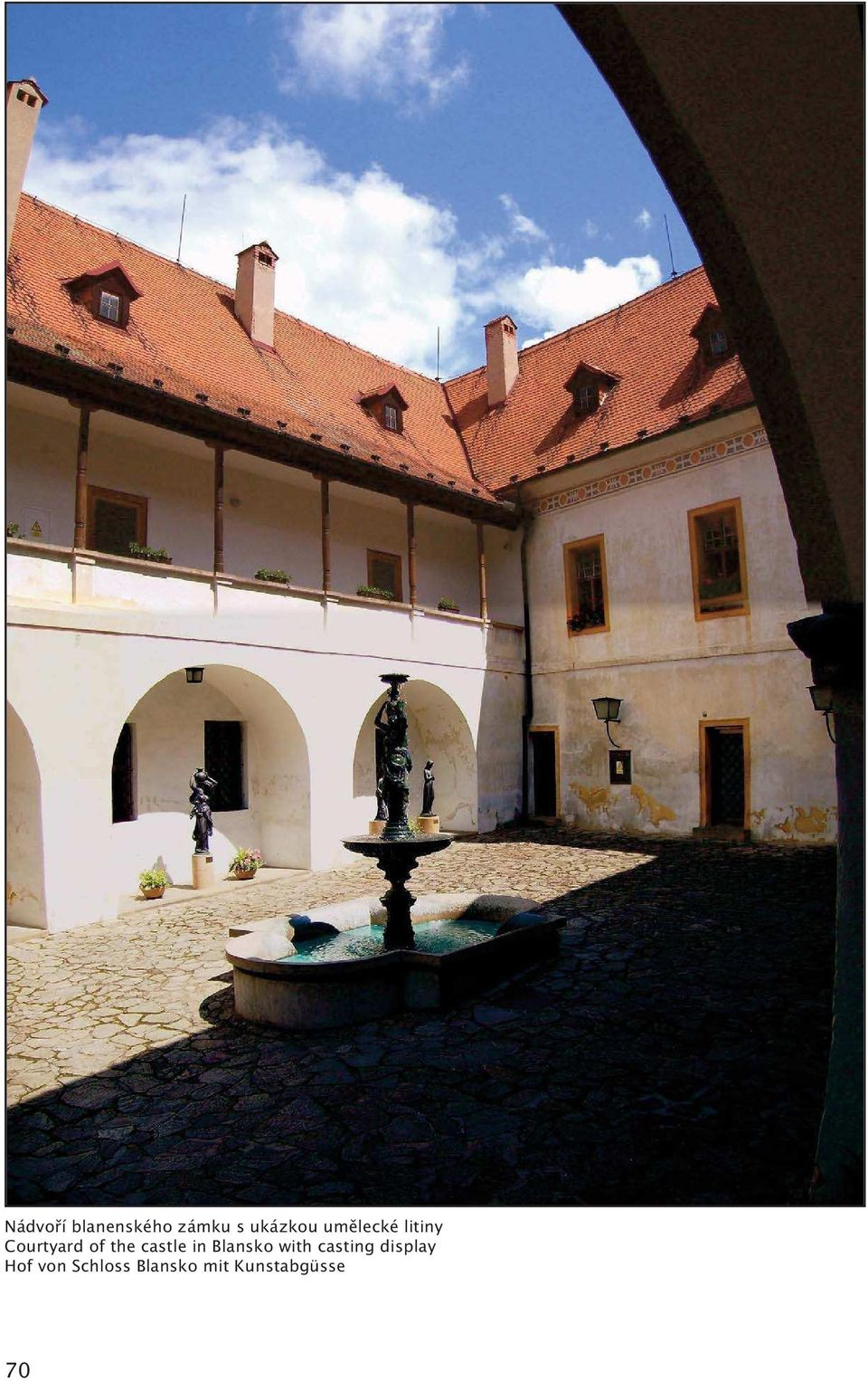 castle in Blansko with casting