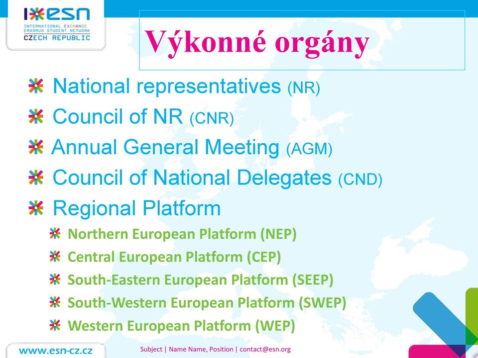 European Platform (NEP) Central European Platform (CEP) South-Eastern European