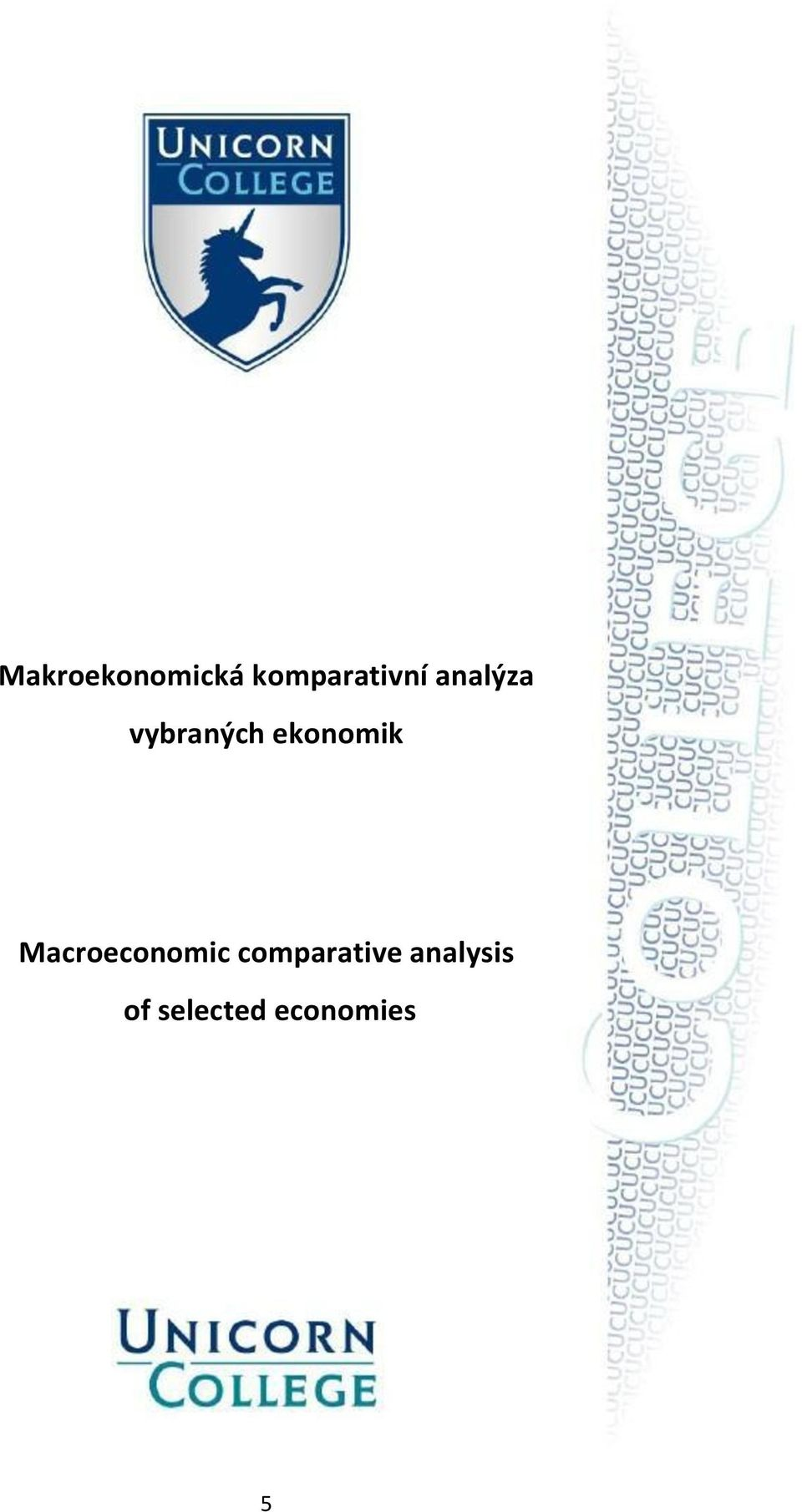 Macroeconomic comparative