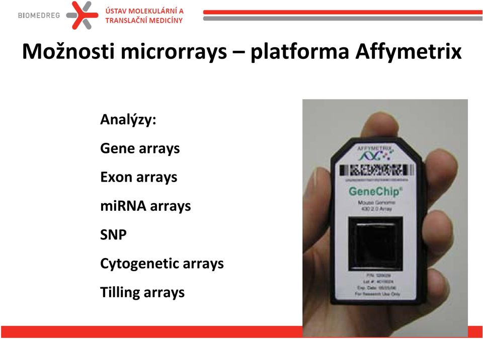 arrays Exon arrays mirna