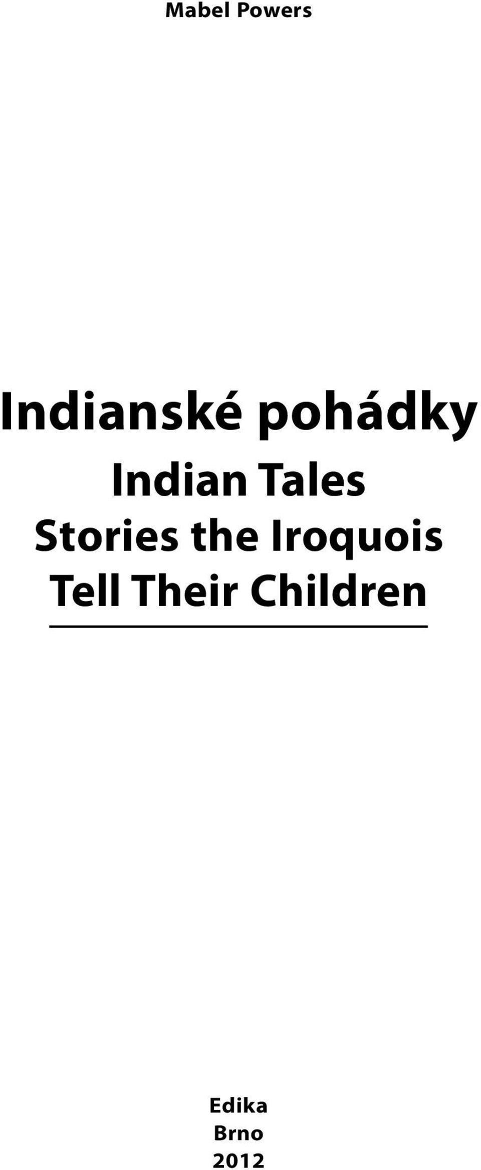 Stories the Iroquois