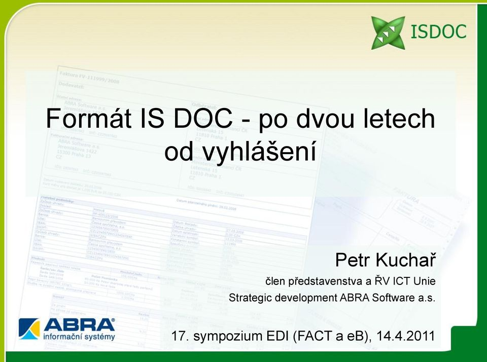 a ŘV ICT Unie Strategic development ABRA
