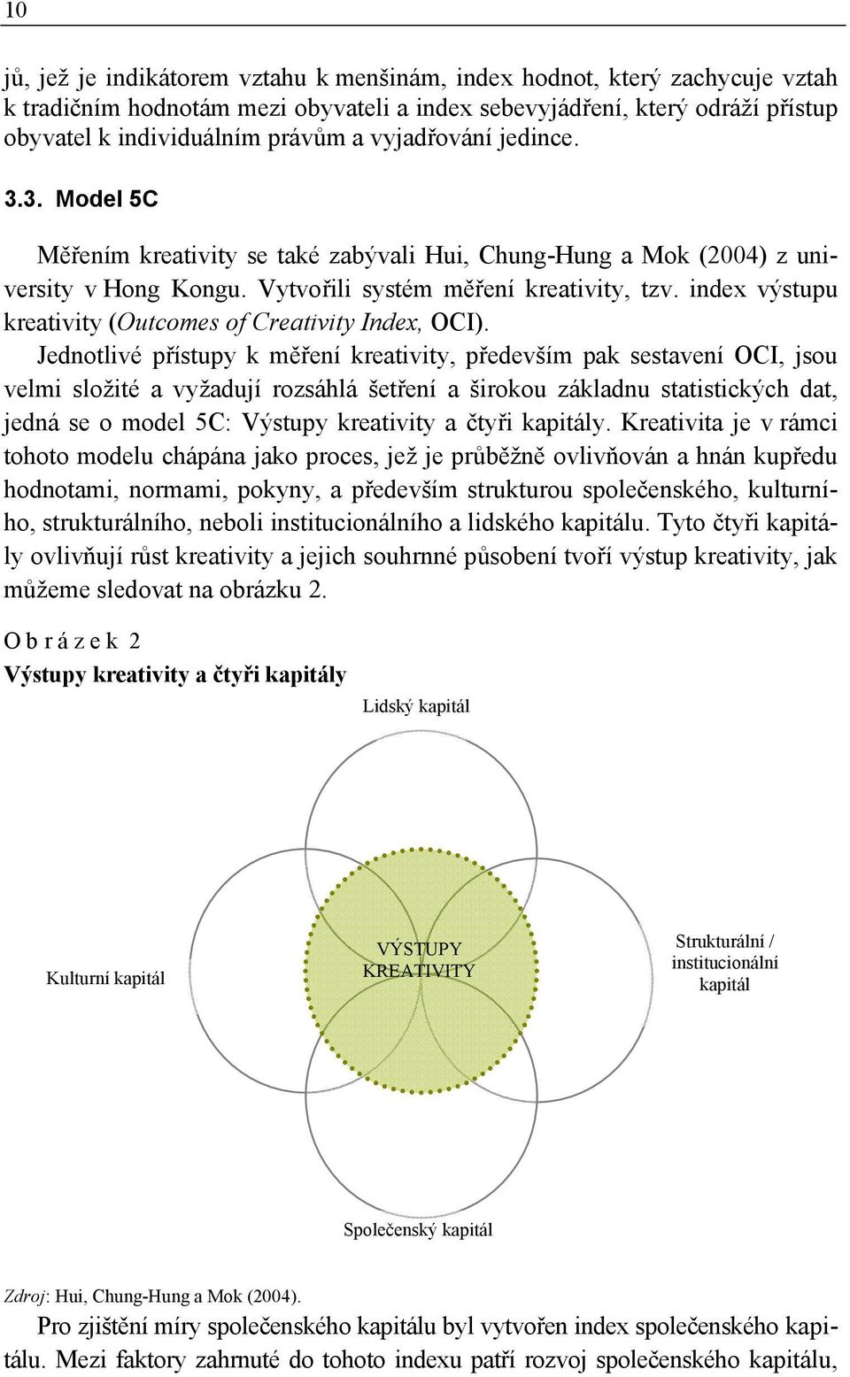 index výstupu kreativity (Outcomes of Creativity Index, OCI).