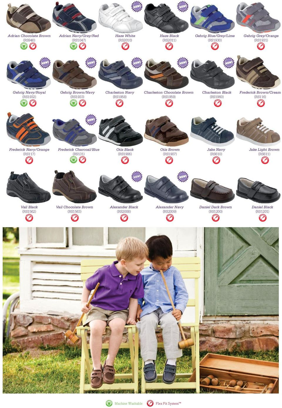 (RS116) Frederick Navy/Orange (RS117) Frederick Charcoal/Blue (RS131) Otis Black (RS1906) Otis Brown (RS1907) Jake Navy (RS610) Jake Light Brown (RS611) Vail Black