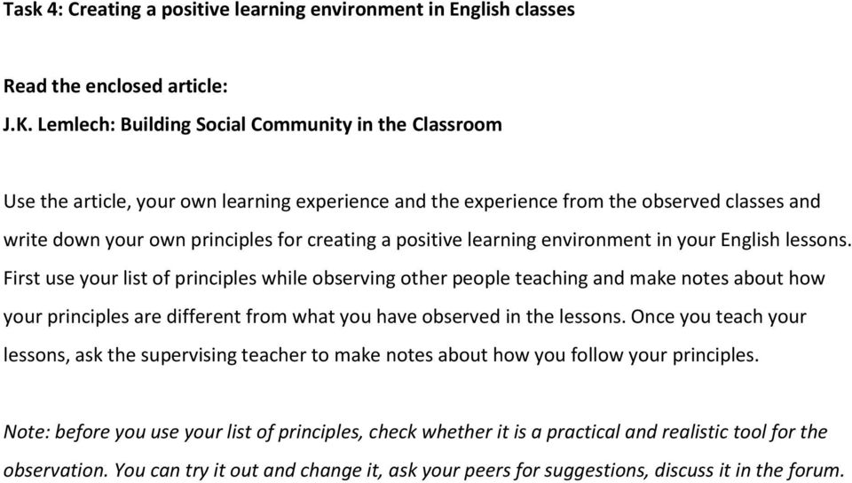 positive learning environment in your English lessons.