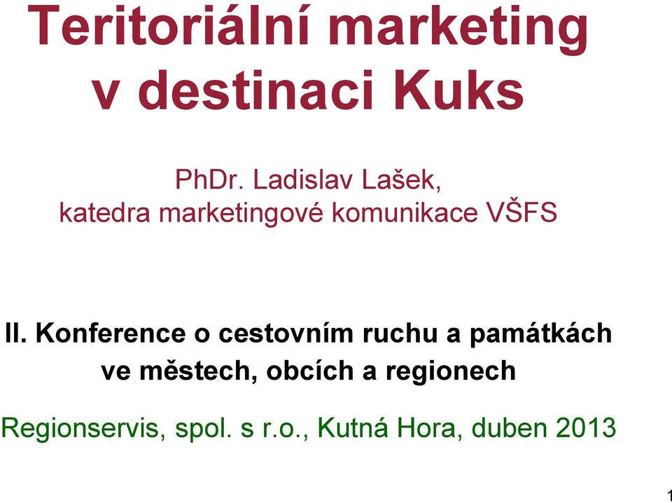 Ladislav Lašek, katedra marketingové