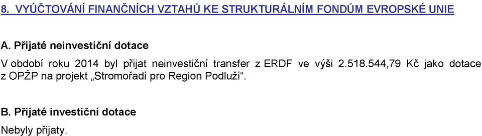 transfer z ERDF ve výši 2.518.
