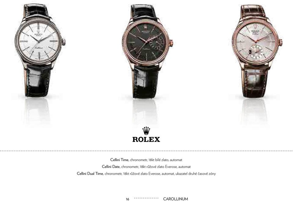 Everose, automat Cellini Dual Time, chronometr,