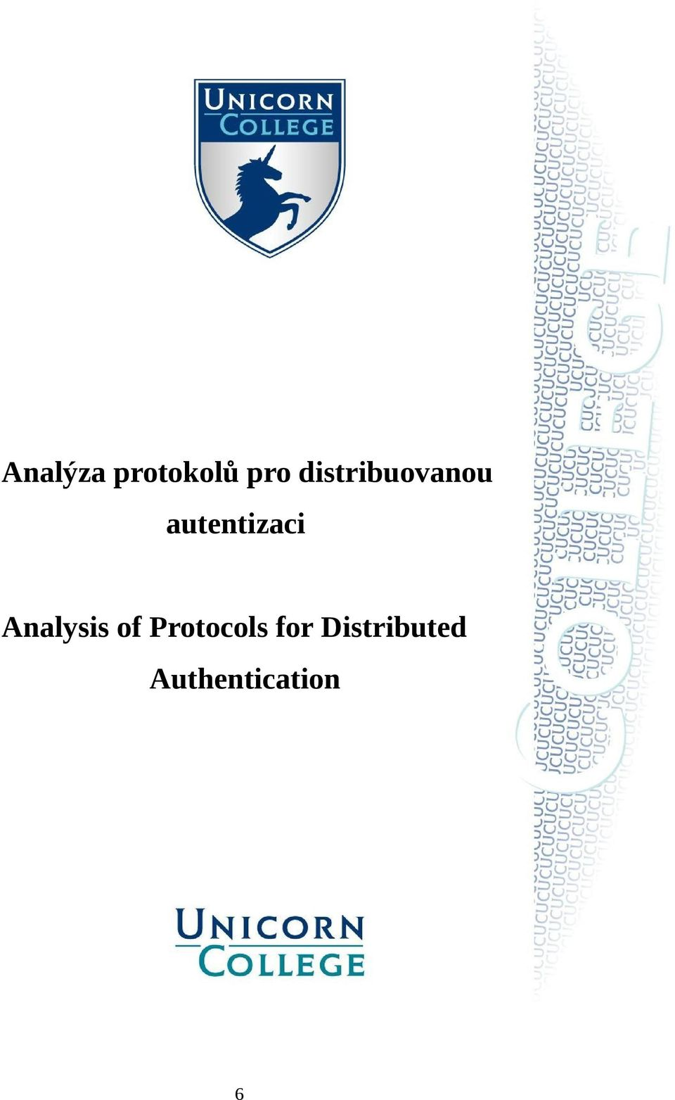 autentizaci Analysis of