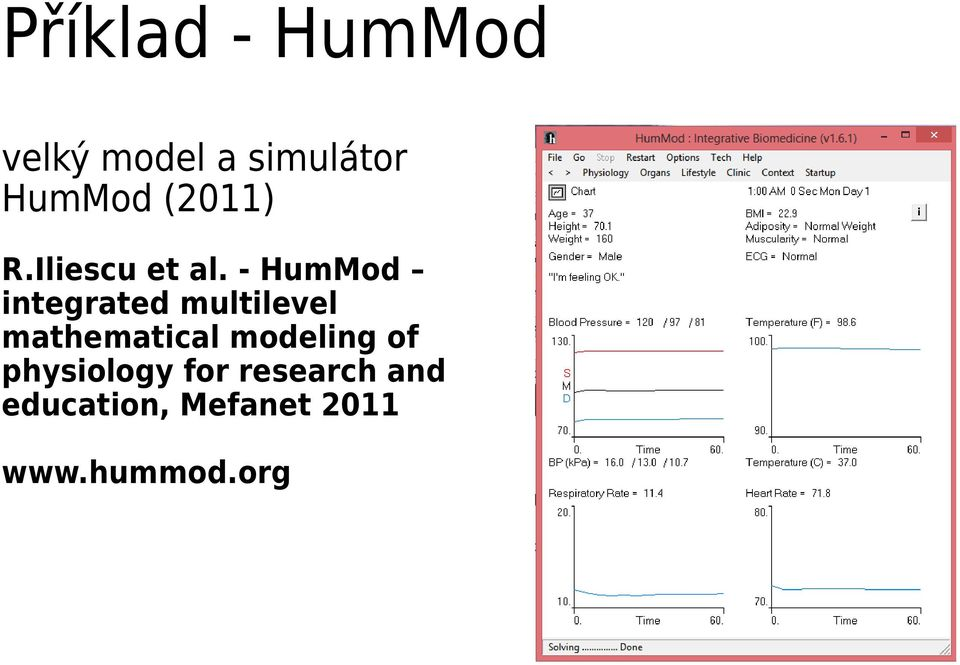 - HumMod integrated multilevel mathematical