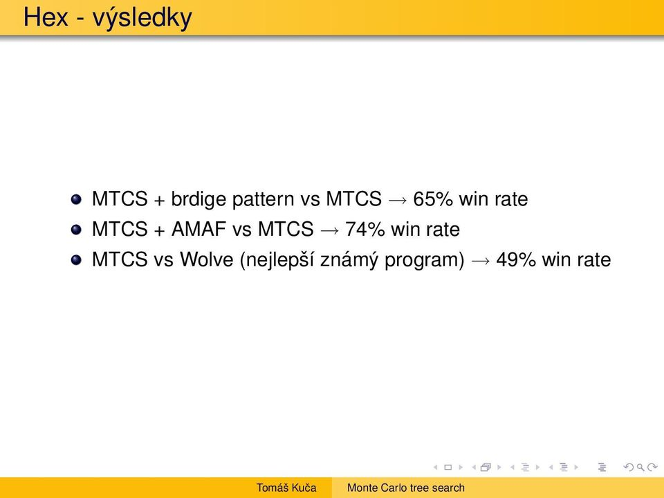AMAF vs MTCS 74% win rate MTCS vs