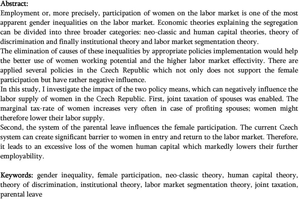 market segmentation theory.