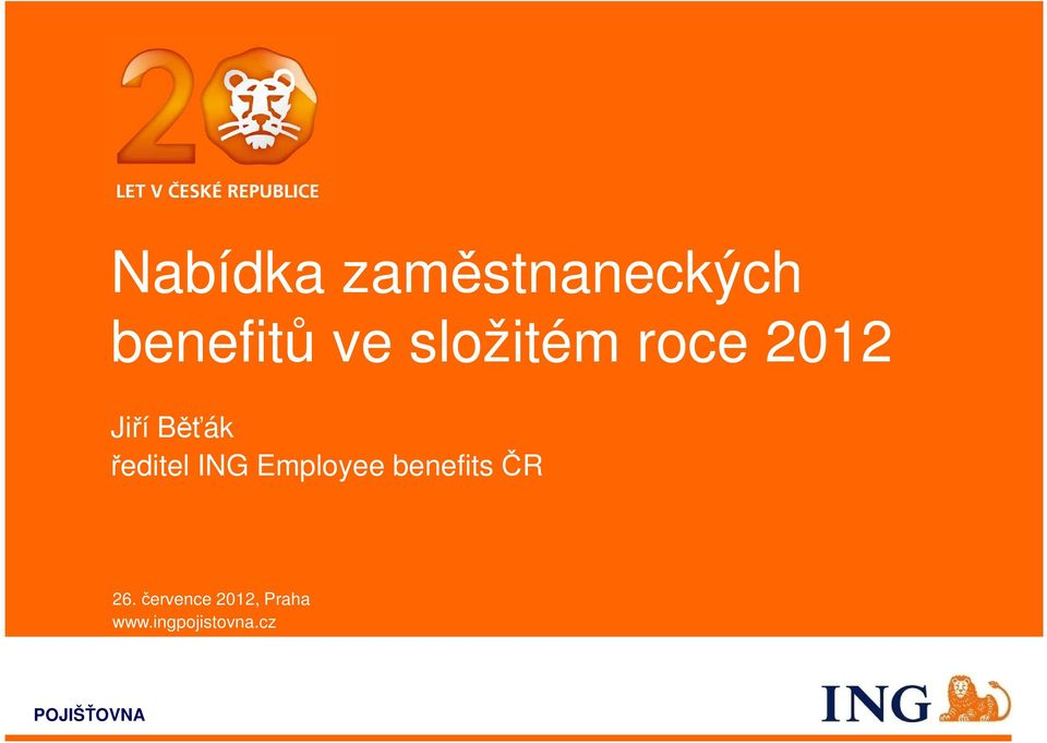 ING Employee benefits ČR 26.