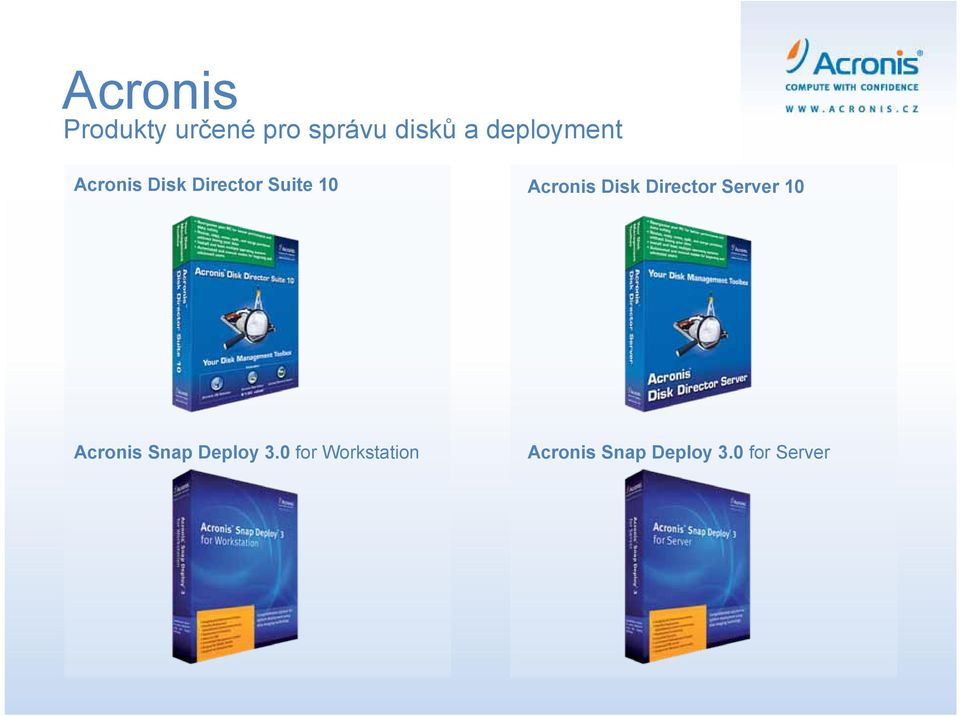 Acronis Disk Director Server 10 Acronis Snap
