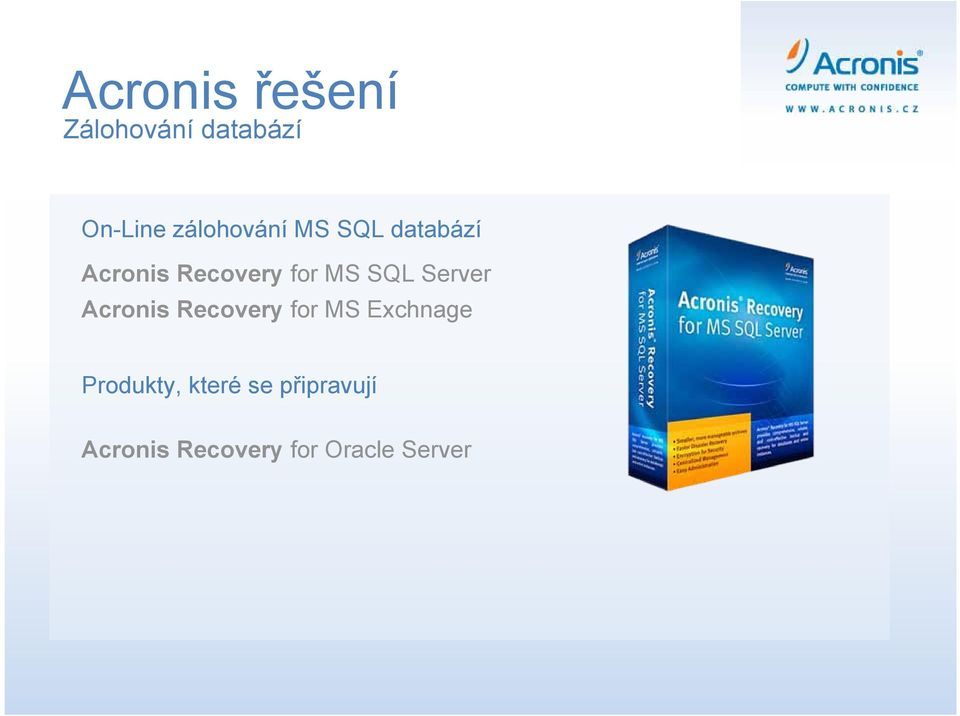 SQL Server Acronis Recovery for MS Exchnage