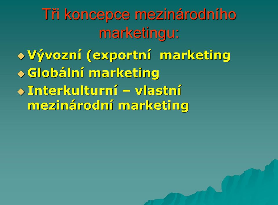 marketing Globální marketing