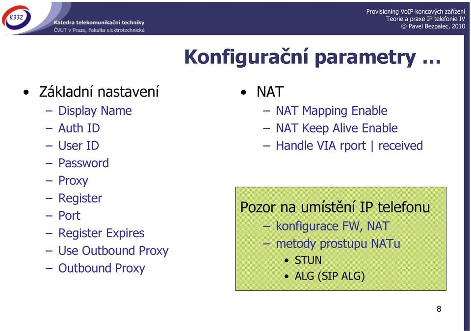 Proxy NAT NAT Mapping Enable NAT Keep Alive Enable Handle VIA rport received