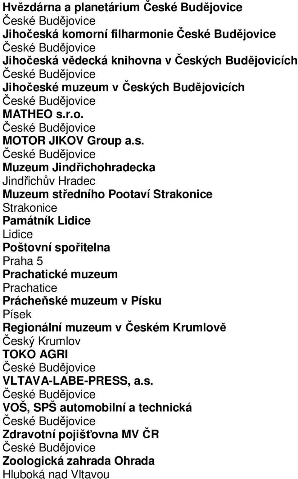 r.o. MOTOR JIKOV Group a.s.