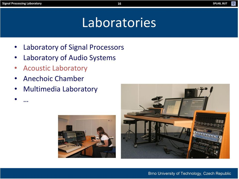 Processors Laboratory of Audio Systems