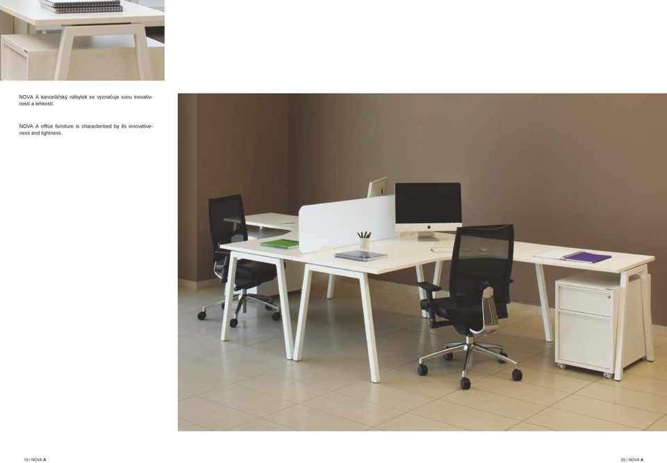 NOVA A office furniture is characterised