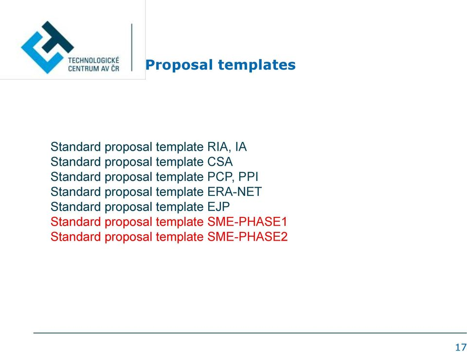 proposal template ERA-NET Standard proposal template EJP Standard