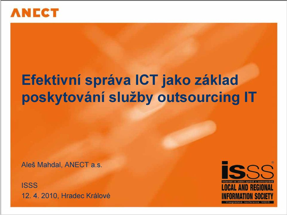 outsourcing IT Aleš Mahdal,