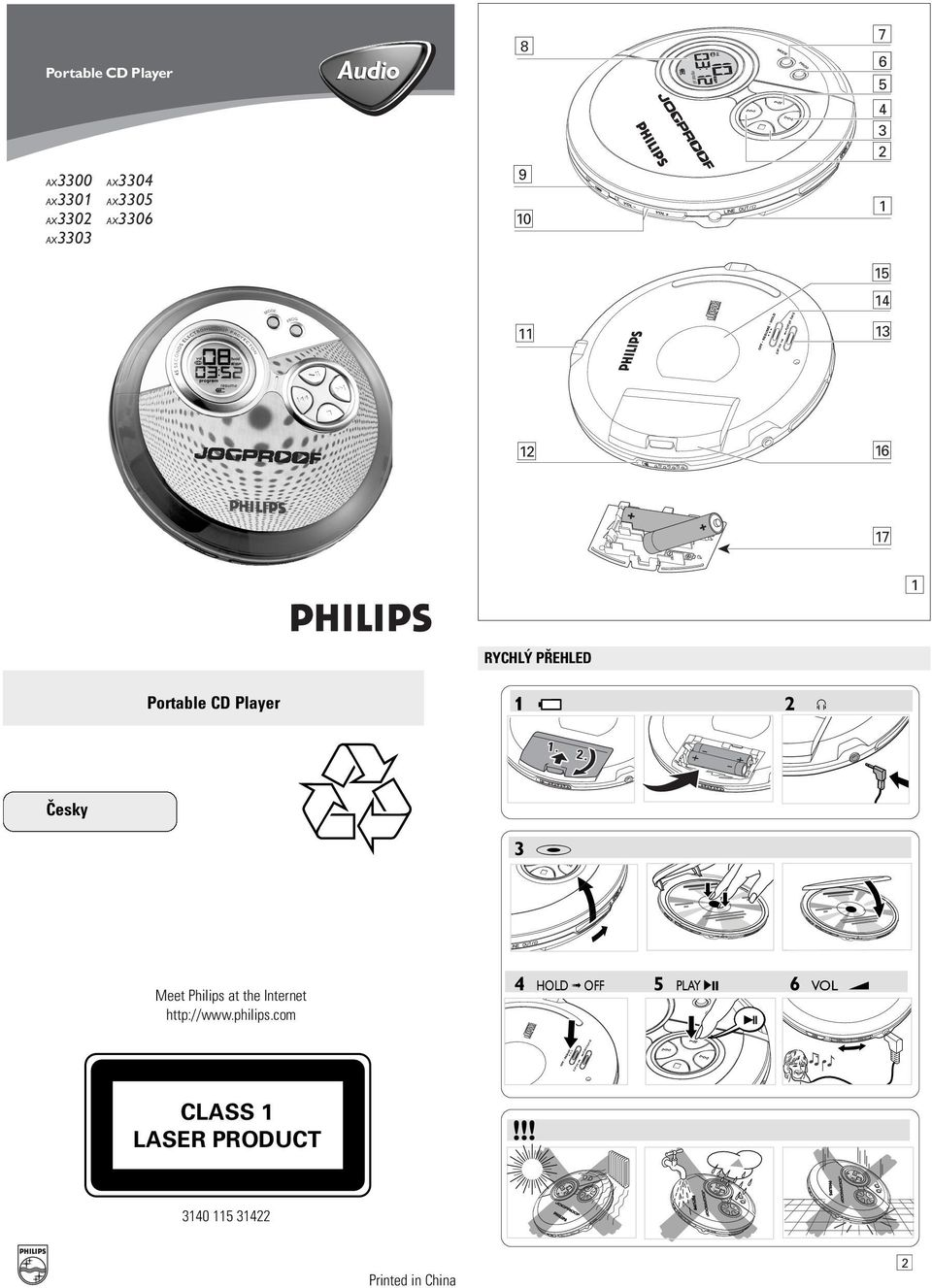 . Èesky 3 # Meet Philips at the Internet http://www.philips.