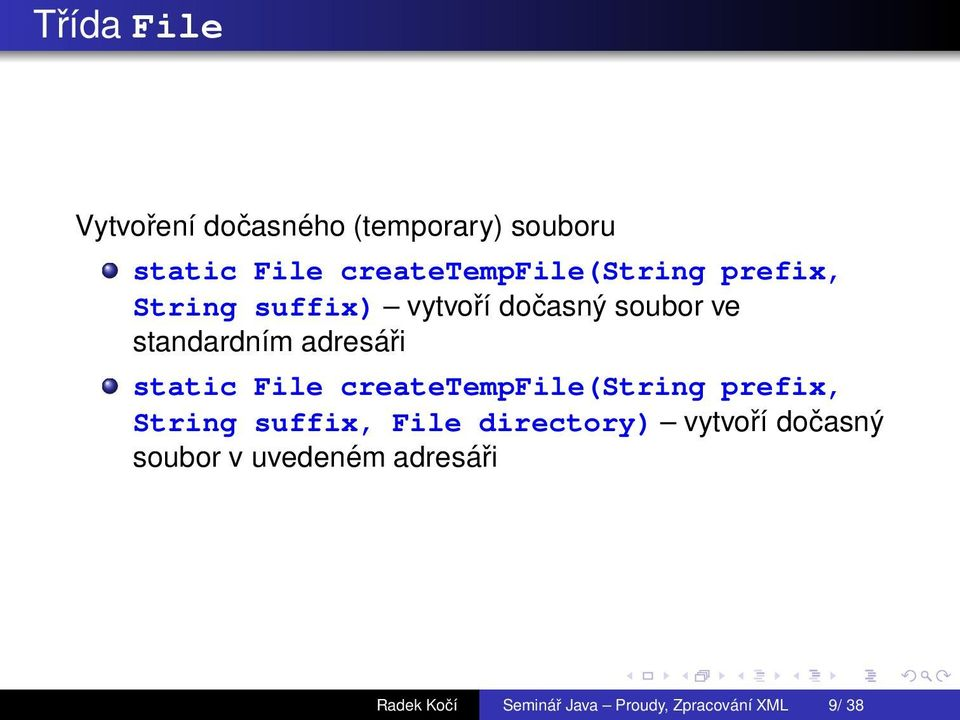 standardnэm adresсi static File createtempfile(string prefix, String suffix,