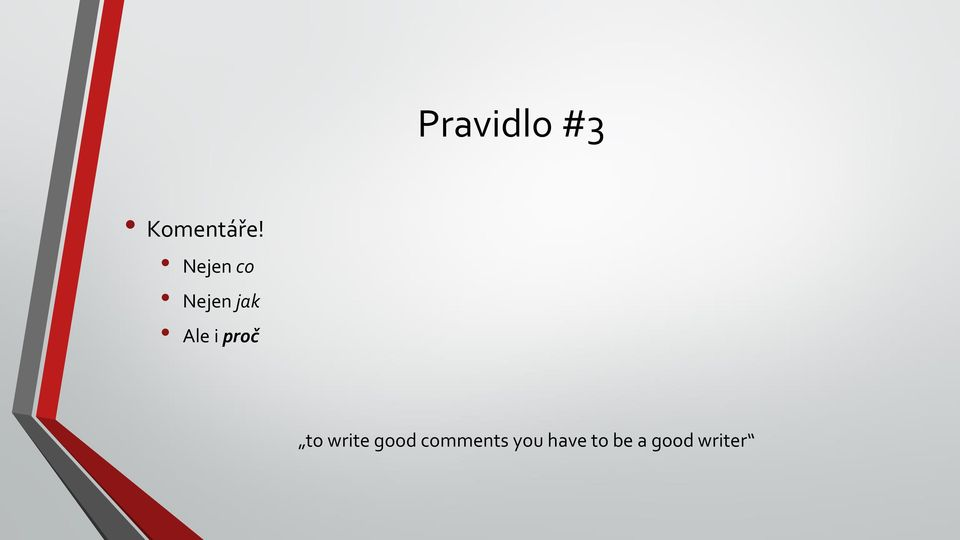 proč to write good