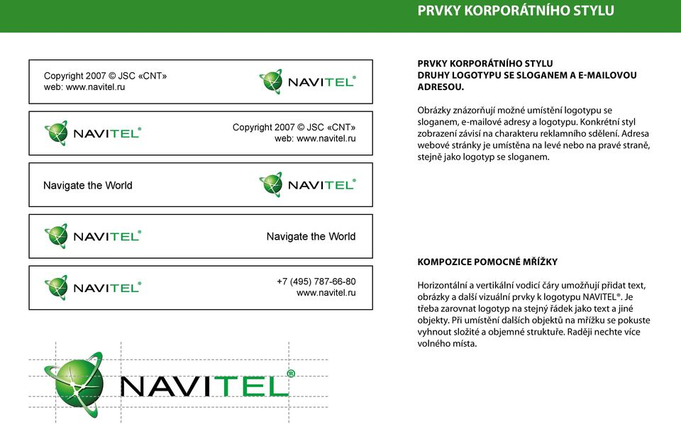 Navigate the World Navigate the World KOMPOZICE POMOCNÉ MŘÍŽKY +7 (495) 787-66-80 www.navitel.