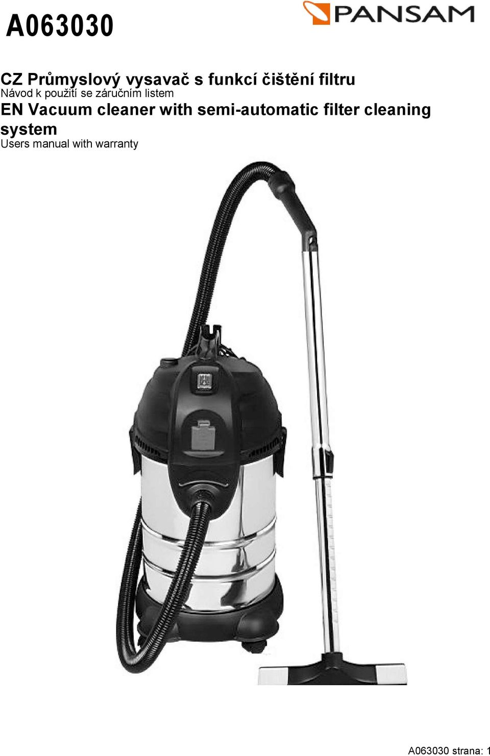 Vacuum cleaner with semi-automatic filter