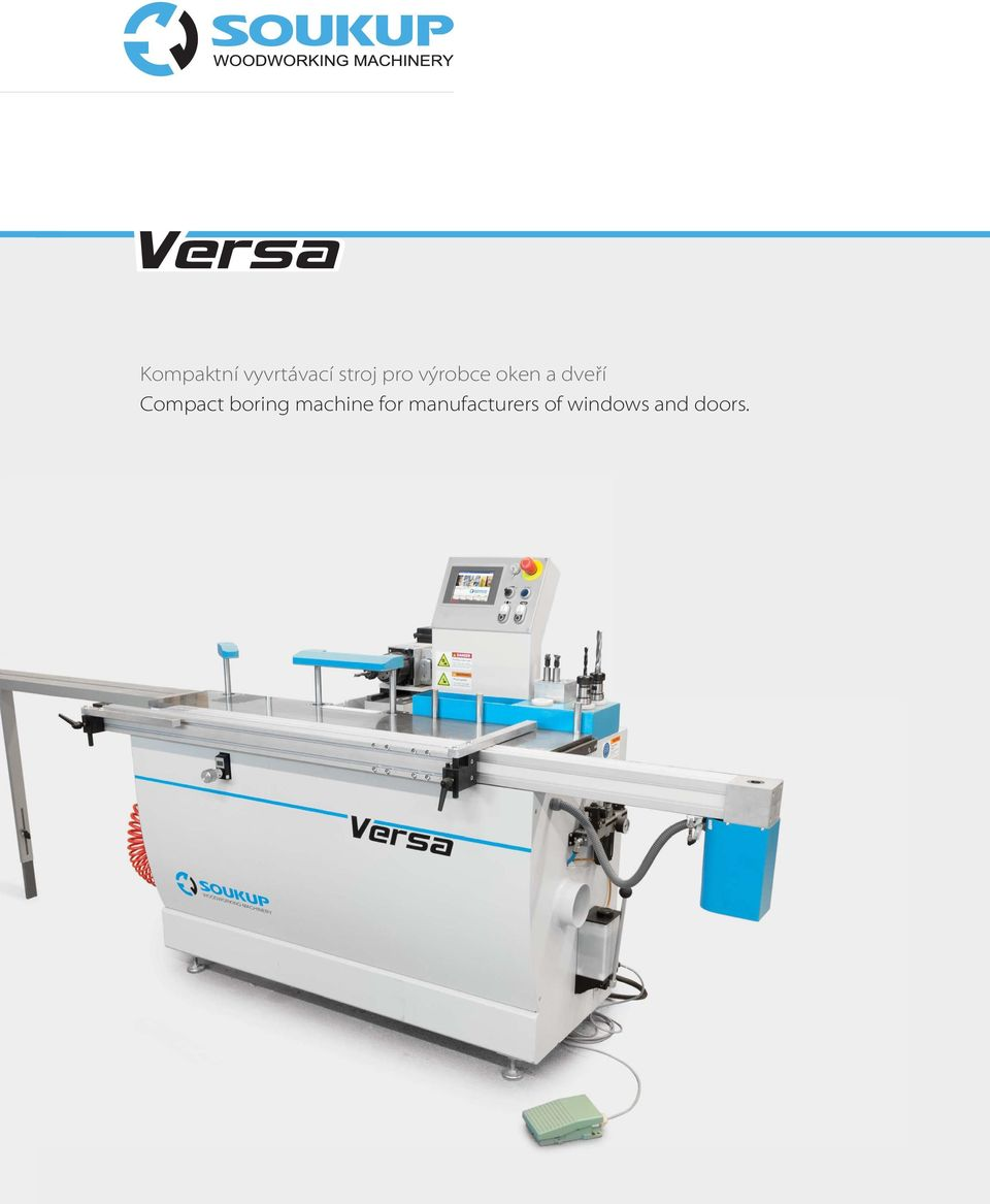 Compact boring machine for