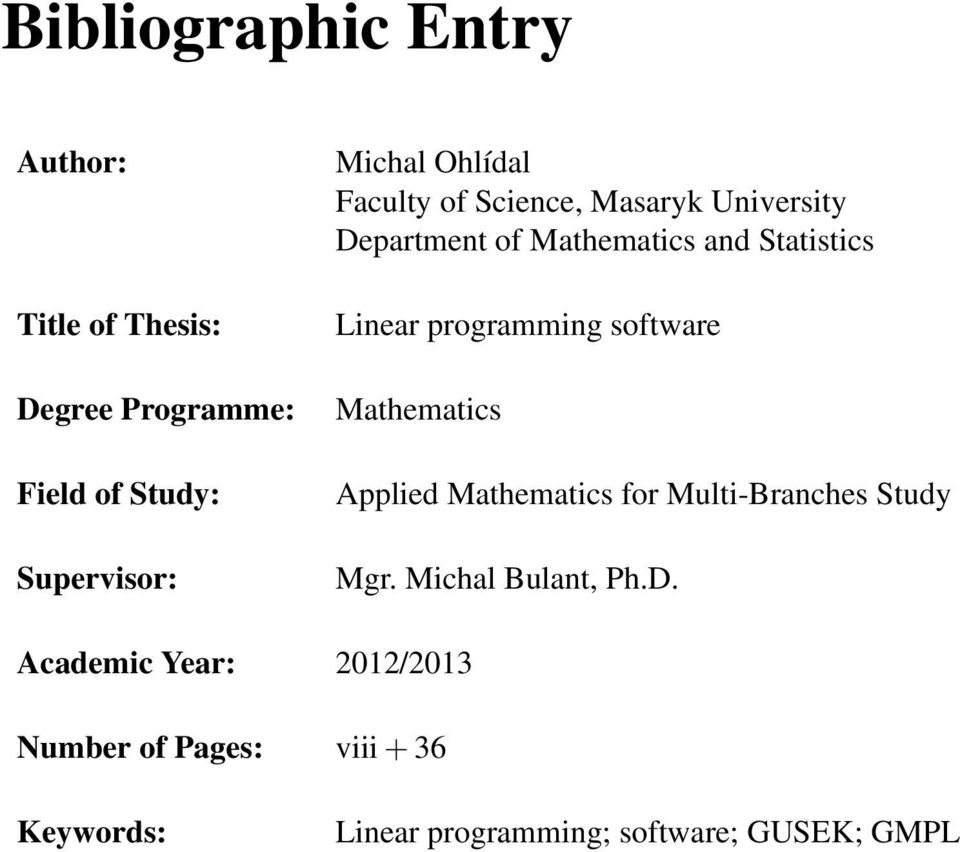 programming software Mathematics Applied Mathematics for Multi-Branches Study Mgr.
