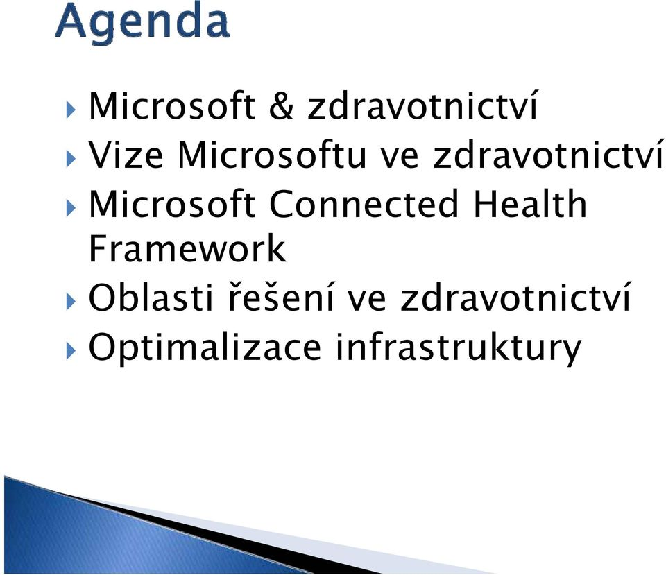 Connected Health Framework Oblasti