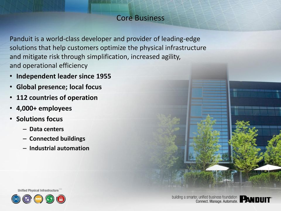 agility, and operational efficiency Independent leader since 1955 Global presence; local focus 112