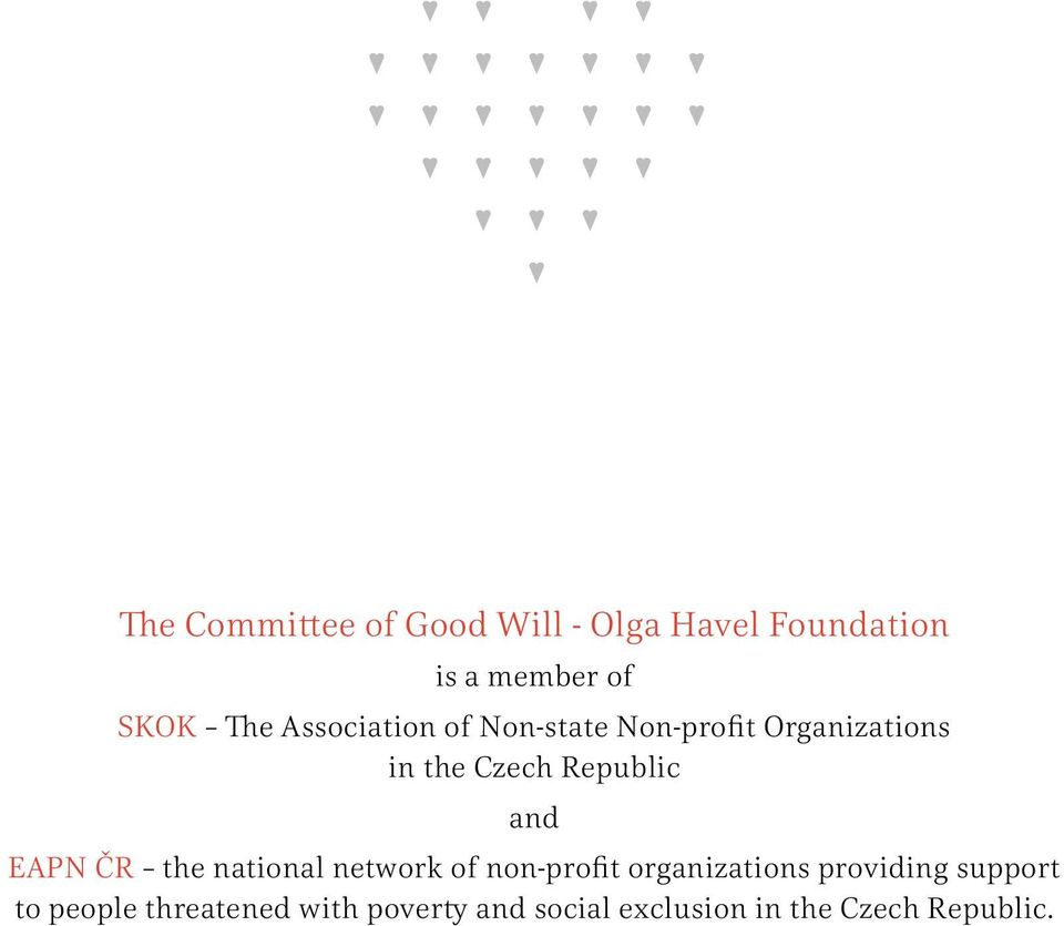 EAPN ČR the national network of non-profit organizations providing support