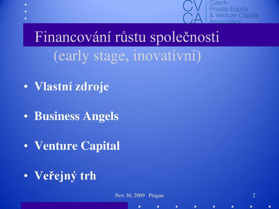 zdroje Business Angels Venture