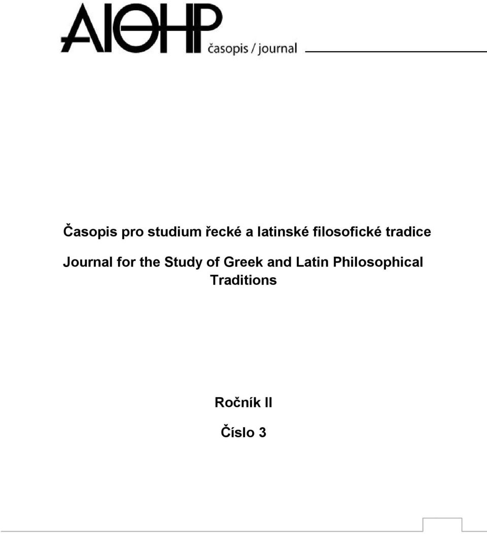 Journal for the Study of Greek and