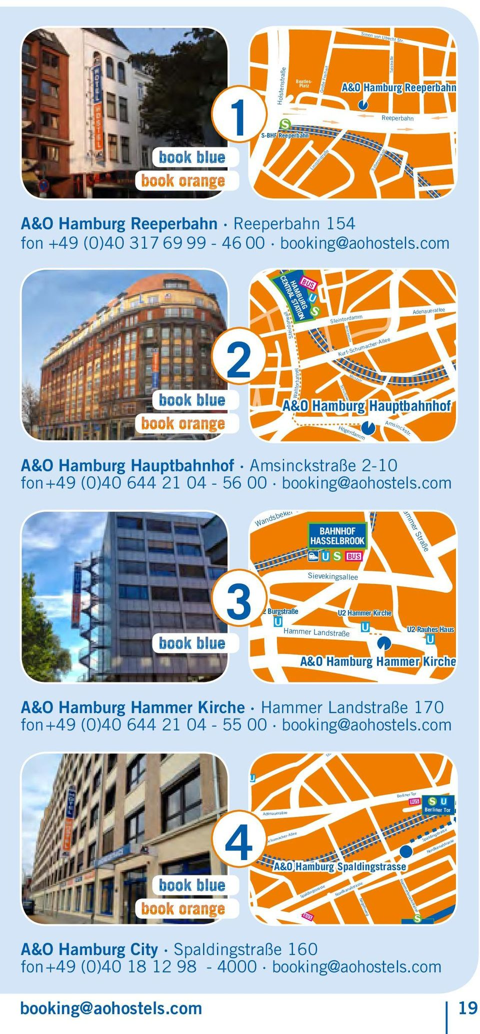 com HAMBURG CENTRAL STATION BUS 2 A&O Hamburg Hammer Kirche Walltortunnel Steintorwall U Steintordamm Brockesstr. Kurt-Schumacher-Allee Strohhase Schultzweg Münzstr.